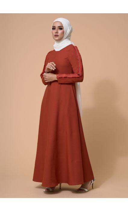 Zara Dress Orange Rust