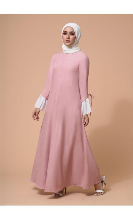 Gia Dress Peach Beige