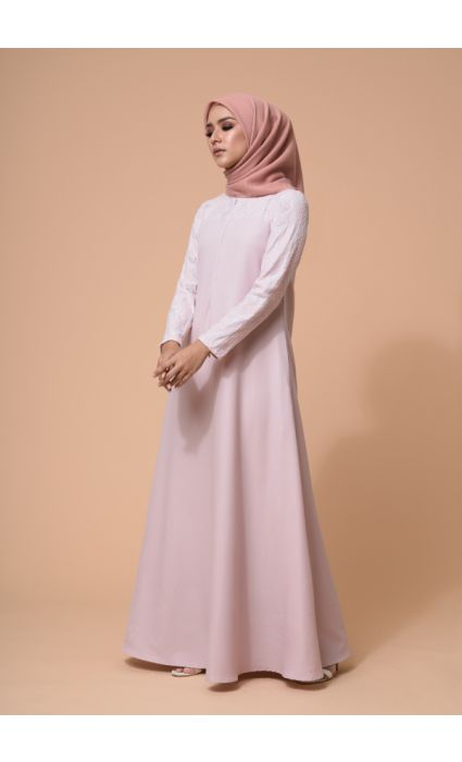 Ebra Dress Peach Blush