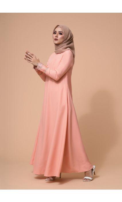Amira Dress Peach Pearl