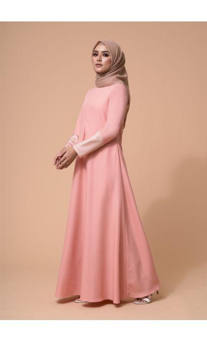 Baheera Dress Peach Pink