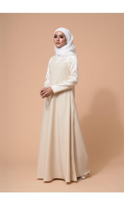 Raahi Dress Pearl Cream