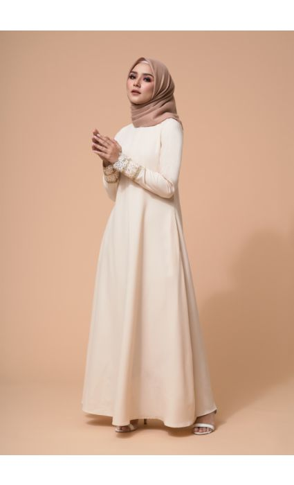 Amira Dress Ivory Cream