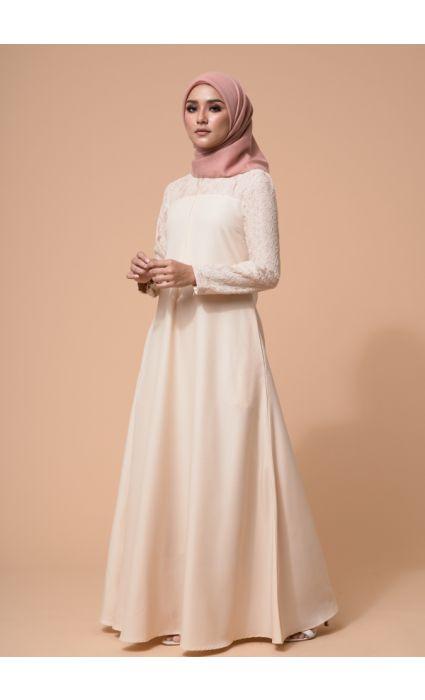 Ebra Dress Pearl Ivory