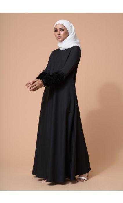 Amna Dress Phantom Black