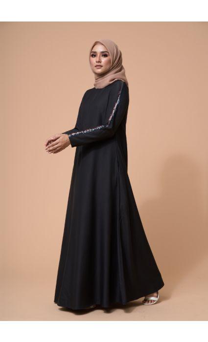 Jaeda Dress Phantom Black