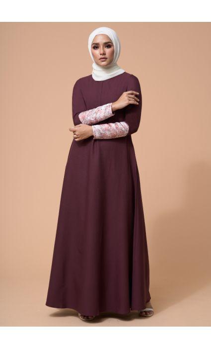 Naajia Dress Red Mahogany