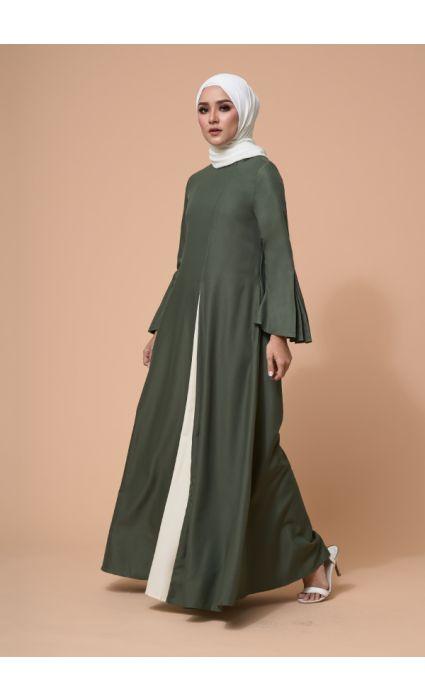 Eyza Dress Elm Green