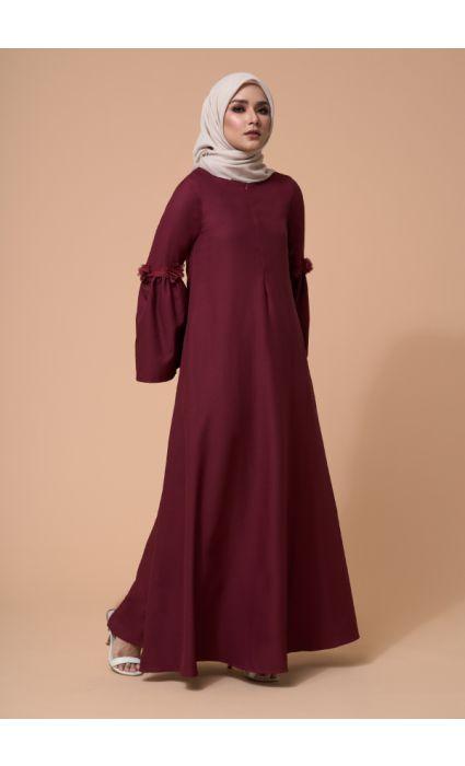 Barqa Dress Burgandy