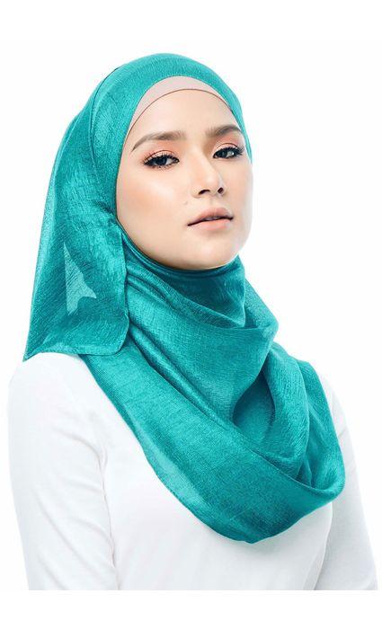 Satin Silk Shawl Green
