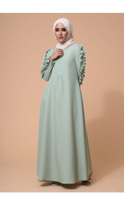 Raina Dress Smoke Green