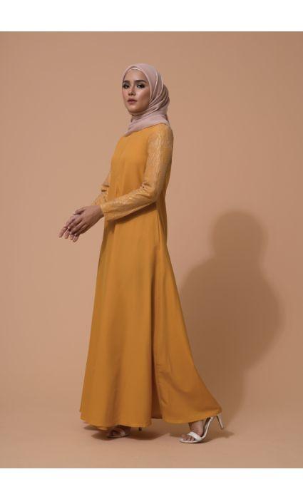 Mahira Dress Spectra Yellow