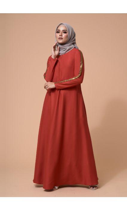 Jaeda Dress Spicy Orange