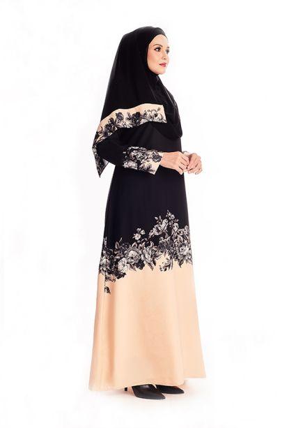 Amina Abaya Peach Blush
