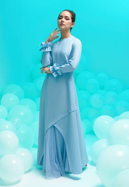 amora dress dusk blue