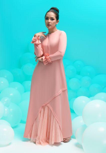 amora dress peach