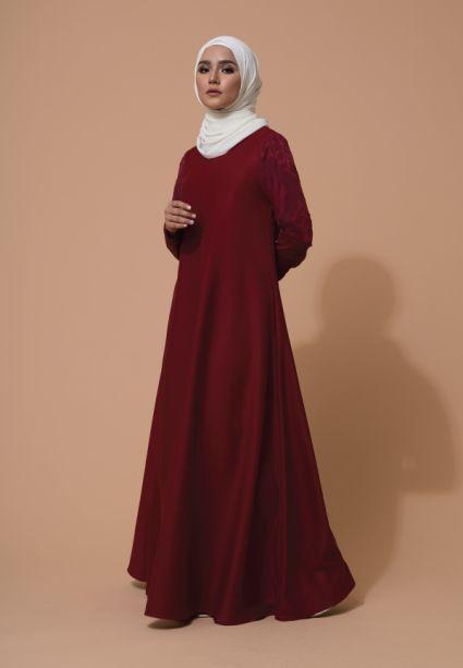 Alea Dress Deep Mahogany