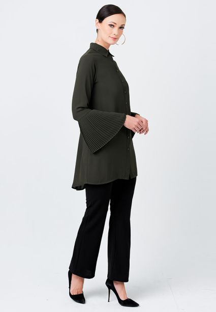 Blissful Blouse Green Olive