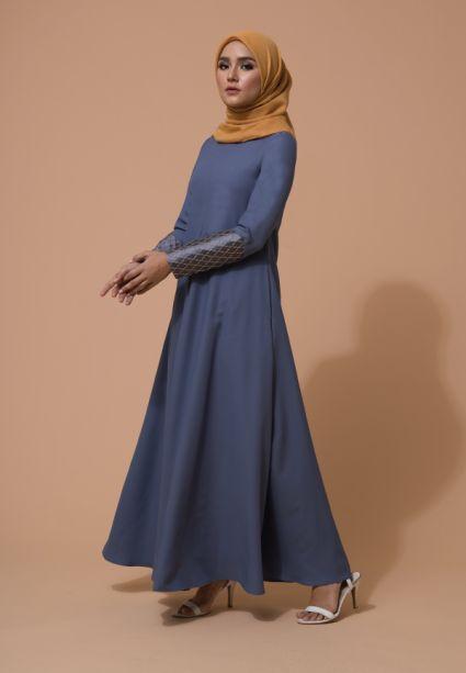 Raffa Dress Blue Musk