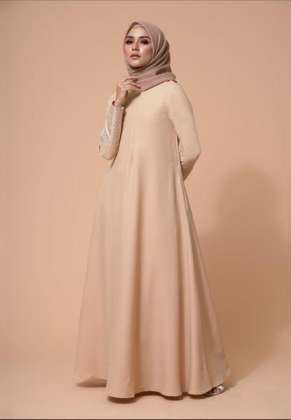Baheera Dress Buff Iory