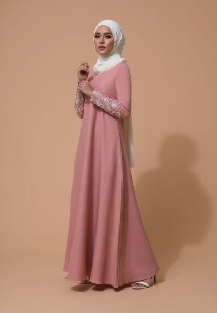Farha Dress Coral Pink
