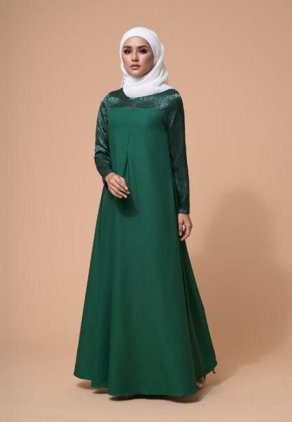 Raahi Dress Eden Green