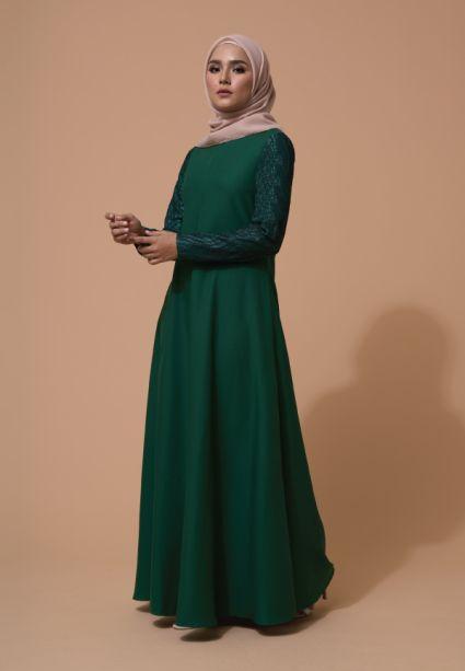 Mahira Dress Eden Green