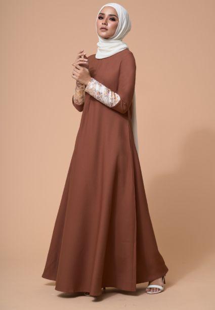 Naajia Dress Friar Brown