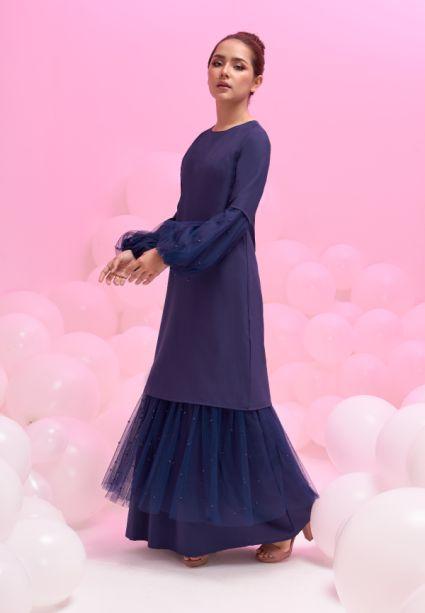 grace dress evening blue