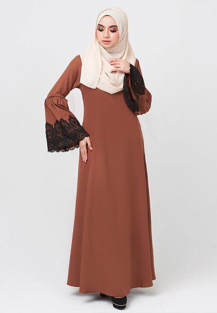 Lacey Dress  Brown Autumn