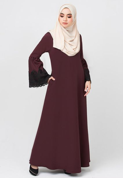 Lacey Dress Red Wood