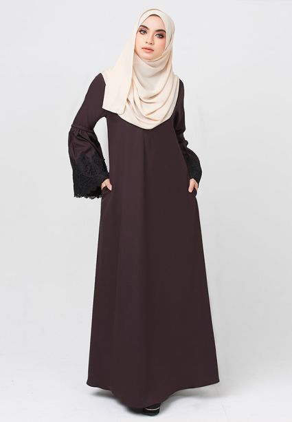 Lacey Dress  Toffee Brown