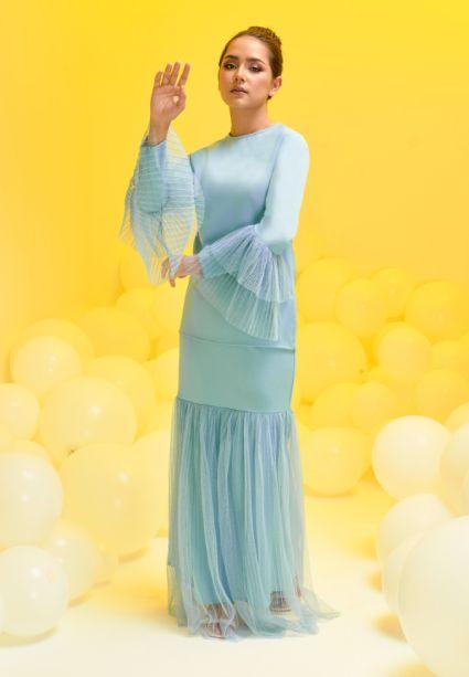 Madeline Kurung Dusk Blue