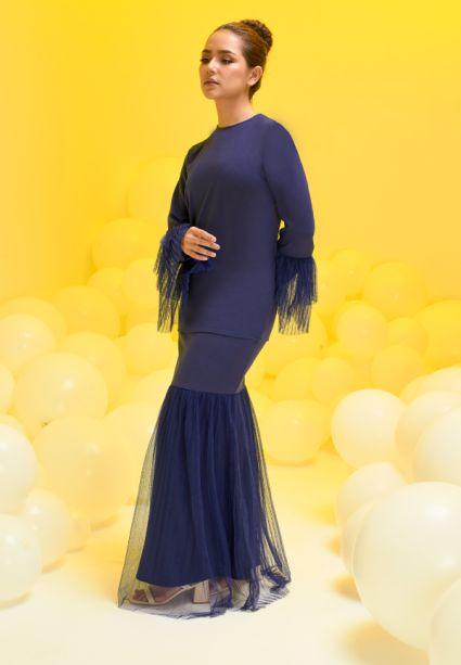 Madeline Kurung Evening Blue