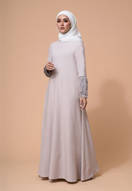 Amna Dress Misty Rose