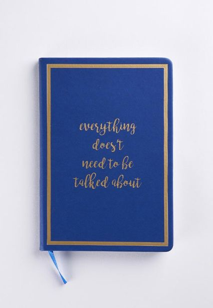 Note Book - Doesnt Need to be Talked