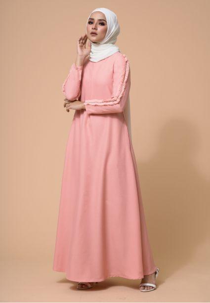 Zara Dress Coral Pink