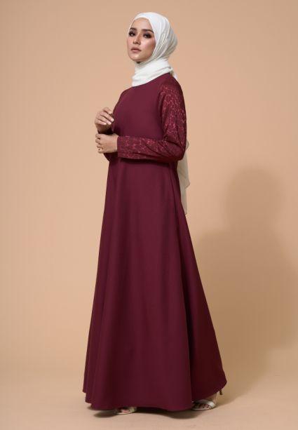Karina Dress Rhubarb Maroon