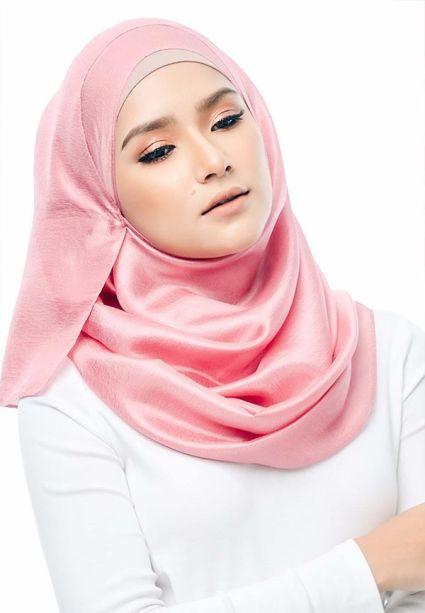 Satin Silk Shawl Pink Shell