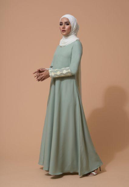 Farha Dress Smoke Green