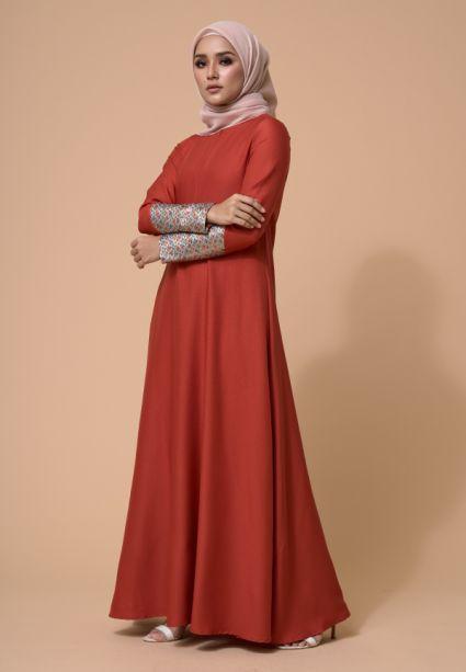 Laila Dress Auburn Rust
