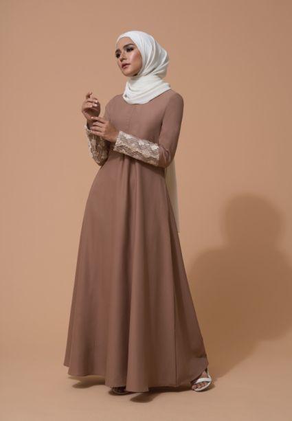 Farha Dress Tawny Brown